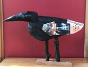DUCOTE; Armoured Crow, painted wood and metal