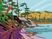 DUCOTE; Low Tide at Plumper Sound; digital painting, SOLD, additional prints available