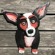 DUCOTE; Porgy the Corgi, painted wood