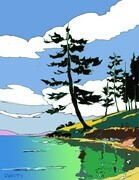DUCOTE; Taylor Bay ; digital painting #2/10 SOLD