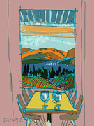 DUCOTE; View at Liquidity Winery, OK Falls, B.C.; digital painting, SOLD
