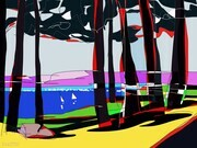 DUCOTE;  View from Sea Star Vineyard Towards Saturna Island ; limited edition digital painting