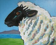 Island Ewe, acrylic on canvas  available
